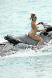 Lauryn Goodman - Riding Jet Ski in Barbados 07/23/2017