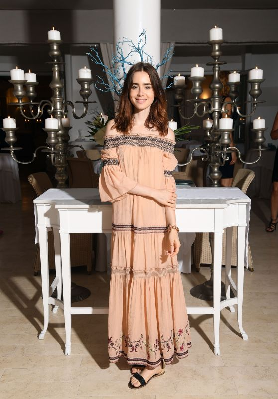 Lily Collins – AMBI Media Group Dinner at Hotel Mezza Torre in Ischia 07/14/2017
