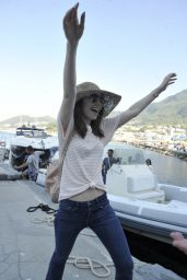 Lily Collins - Arrival in Hotel Regina Isabella in Ischia, Italy 07/14/2017