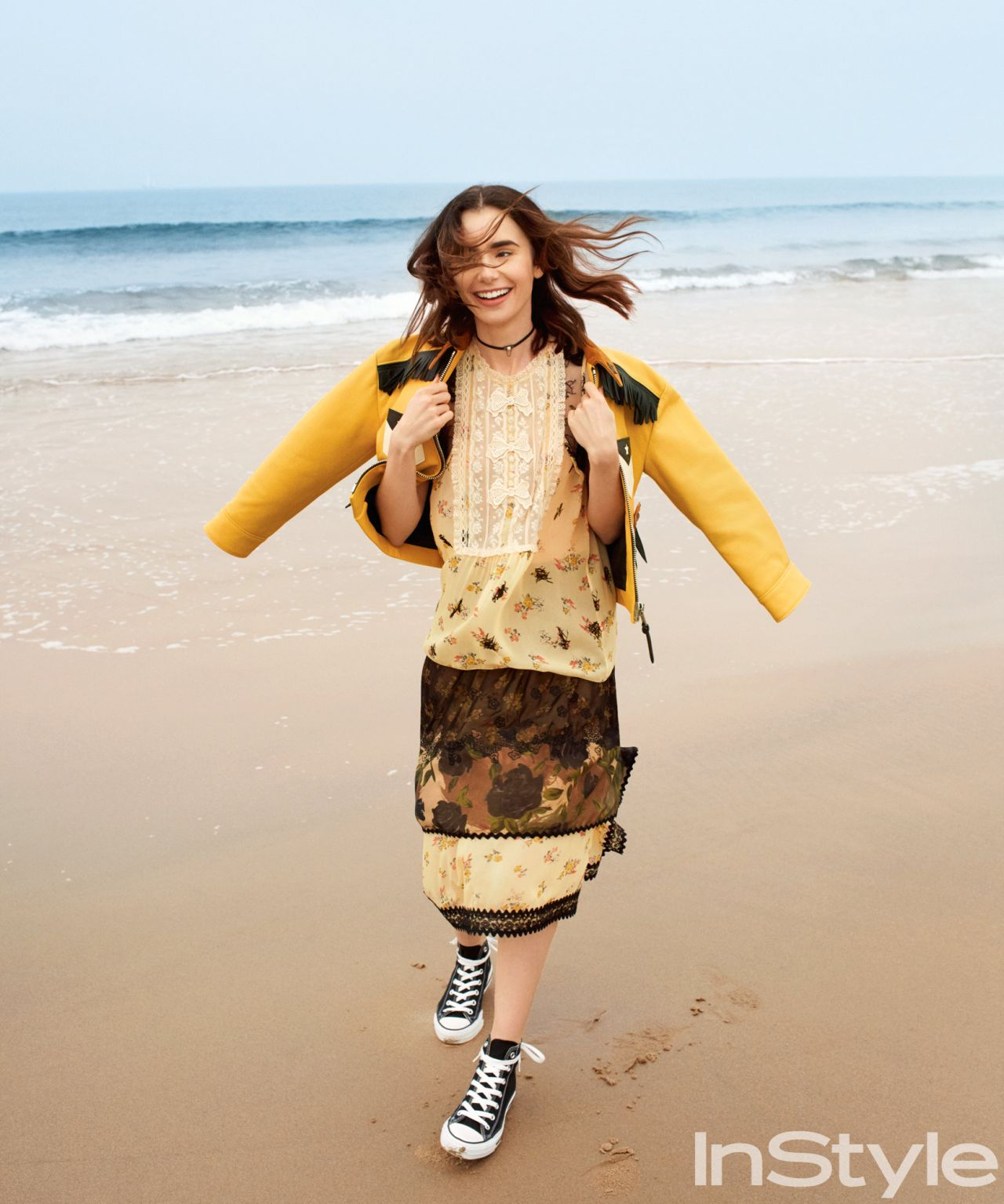 Lily Collins Photoshoot For Instyle Magazine Us 2017