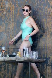 Lindsay Lohan in a Pool in Mykonos 07/24/2017
