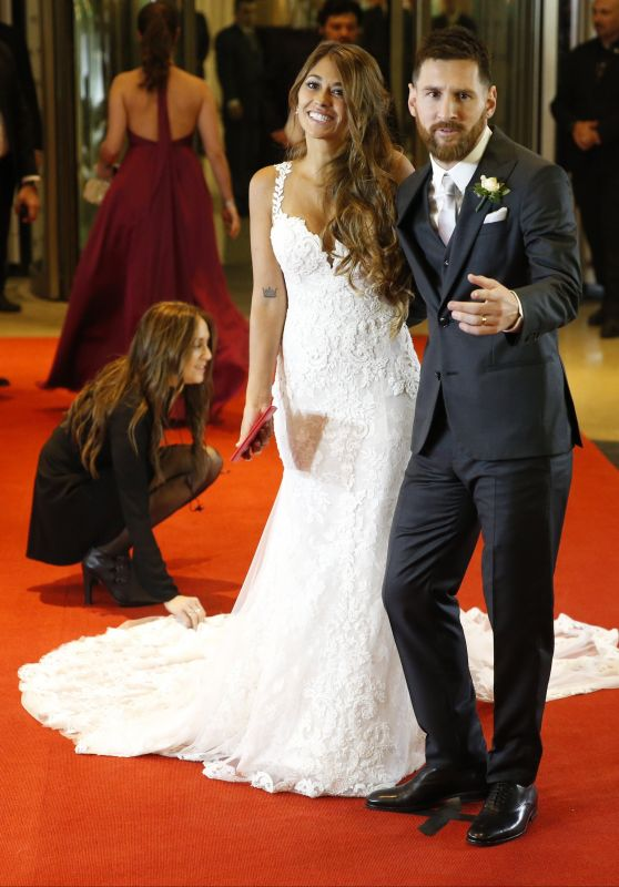 Lionel Messi and Wife Antonella Roccuzzo - Wedding Reception in Argentina 06/30/2017