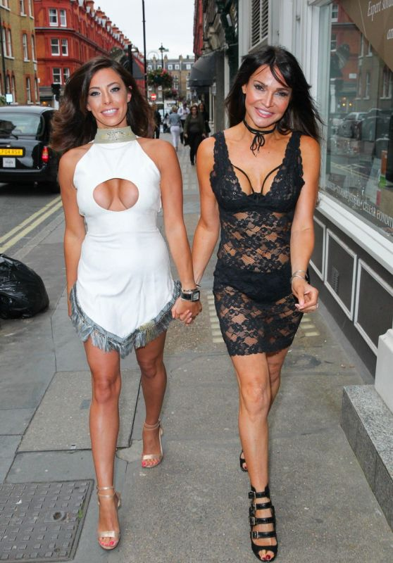 Lizzie Cundy and Pascal Craymer - Pierre Haute Coiffure Beauty & Spa Salon in London 07/28/2017