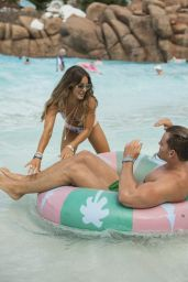 Louise Thompson in a Bikini at Walt Disney World in Florida 07/17/2017