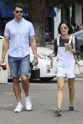 Lucy Hale, Jayson Blair and Claudia Lee - Grab a Coffee in LA 07/25/2017