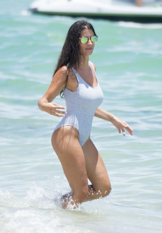 Ludivine Kadri Sagna in a Swimsuit - Enjoys a Miami Vacation 07/16/2017