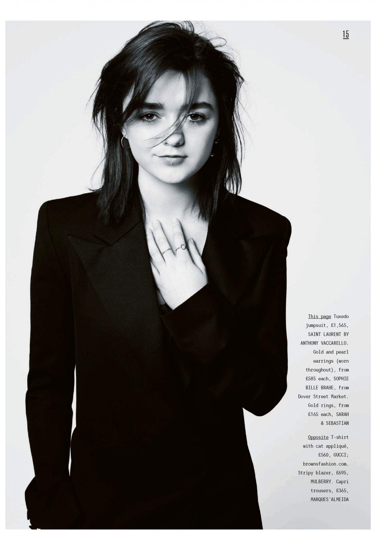 Maisie Williams Style Magazine July 2017 Issue