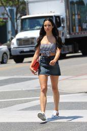 Mara Teigen in Mini Skirt - Enjoying a Shopping Trip in Beverly Hills 07/11/2017