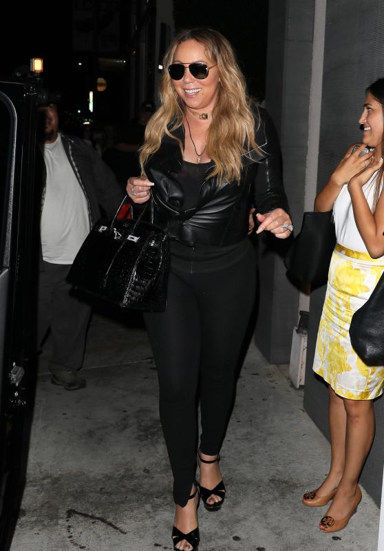 Mariah Carey Night Out Style - Leaving Nobu Restaurant in West Hollywood 07/24/2017