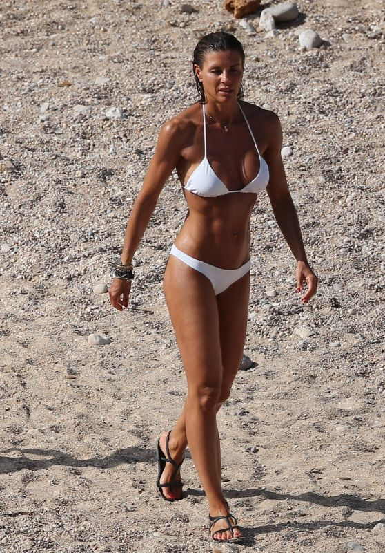 Martina Colombari in Bikini on a Beach in Ibiza 07/06/2017