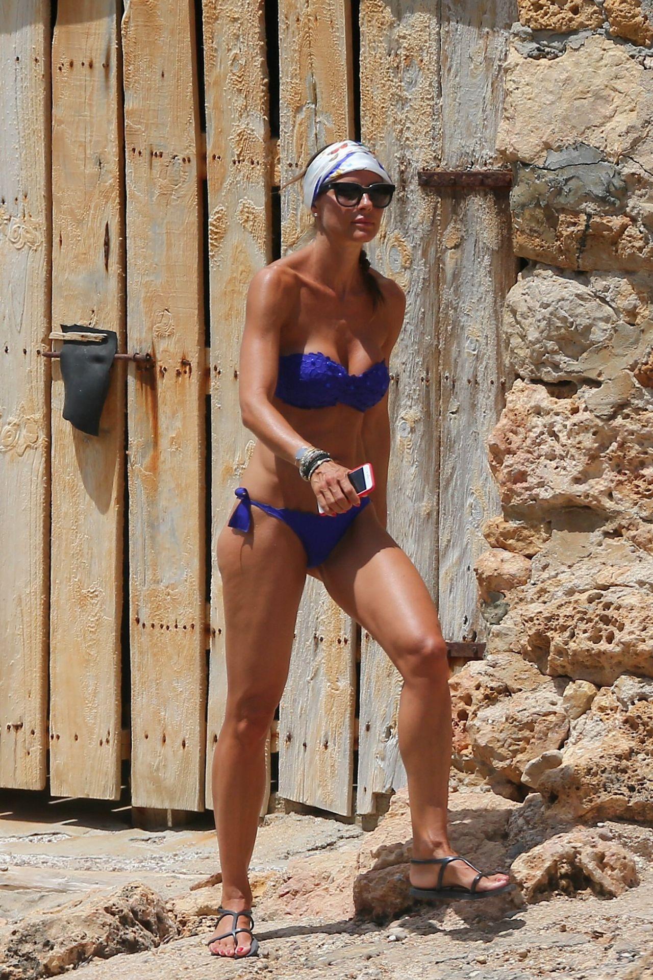 Martina Colombari In Bikini On A Beach In Ibiza 07 06 2017