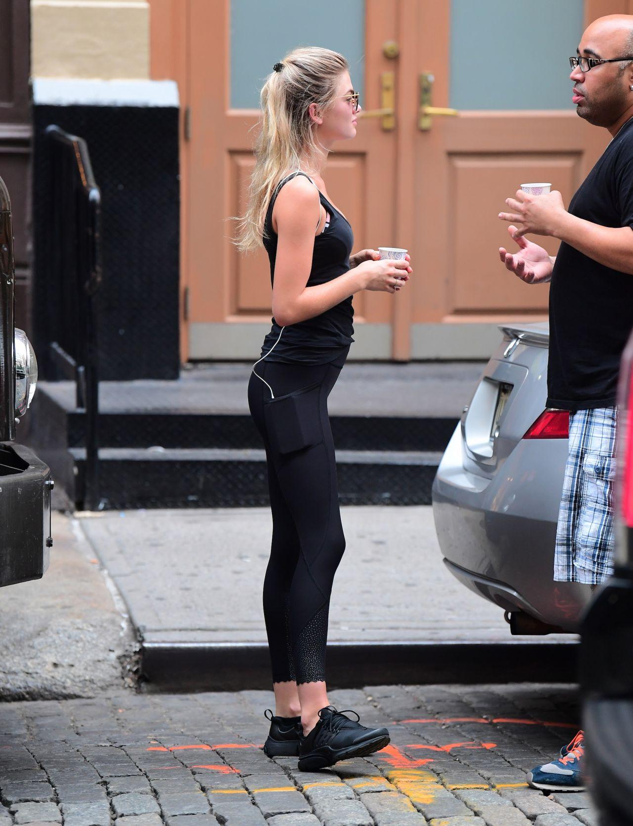 Megan Blake Irwin In Tights Soho In New York City 07 28 2017