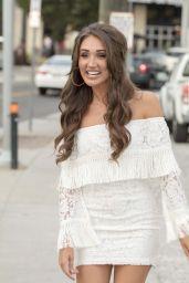 Megan McKenna Leggy in Mini Dress - Arrives to the Station Inn in Nashville 07/25/2017