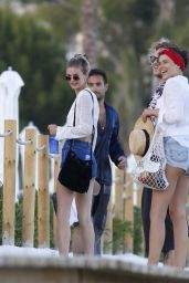 Megan Williams on the Beaches of Ibiza, Spain 07/22/2017