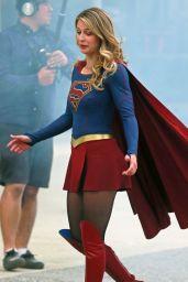 "Melissa Benoist - ""Supergirl"" Set in Downtown Vancouver 07/16/2017"