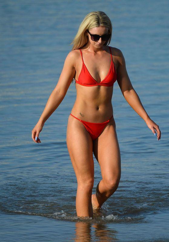 Michaella McCollum in a Bikini - Beach in Majorca, July 2017