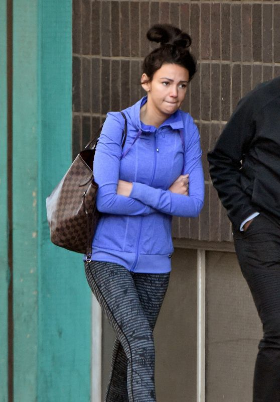 Michelle Keegan in Tights - Cape Town, South Africa 07/22/2017