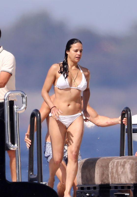 Michelle Rodriguez in a Bikini in Saint Tropez 07/08/2017