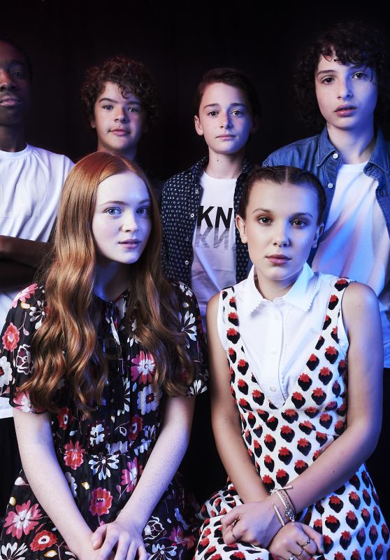 Millie Bobby Brown, Sadie Sink - TVLine Portrait Studio - Comic-Con International, San Diego 07/22/2017