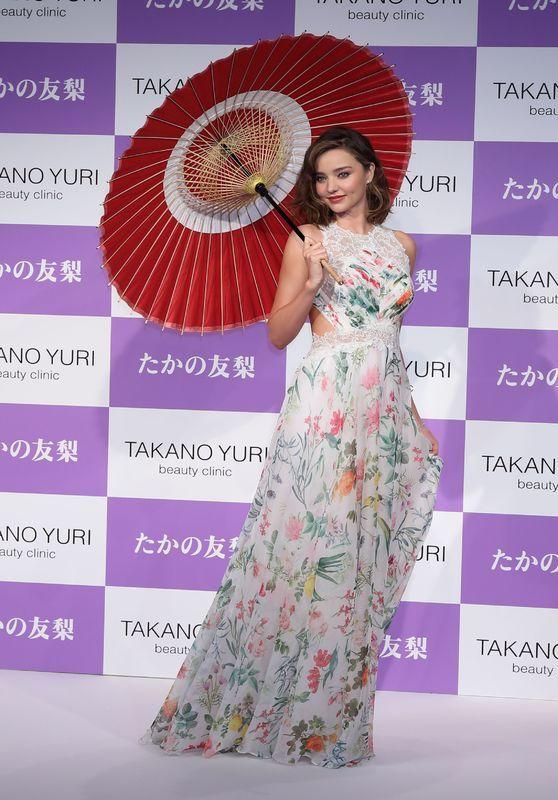 """Miranda Kerr - Promotes """"Takano Yuri"""" Beauty Clinic in Tokyo, Japan 07/11/2017"""