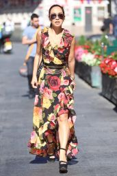 Myleene Klass in Flowing Floral Dress - London 07/17/2017