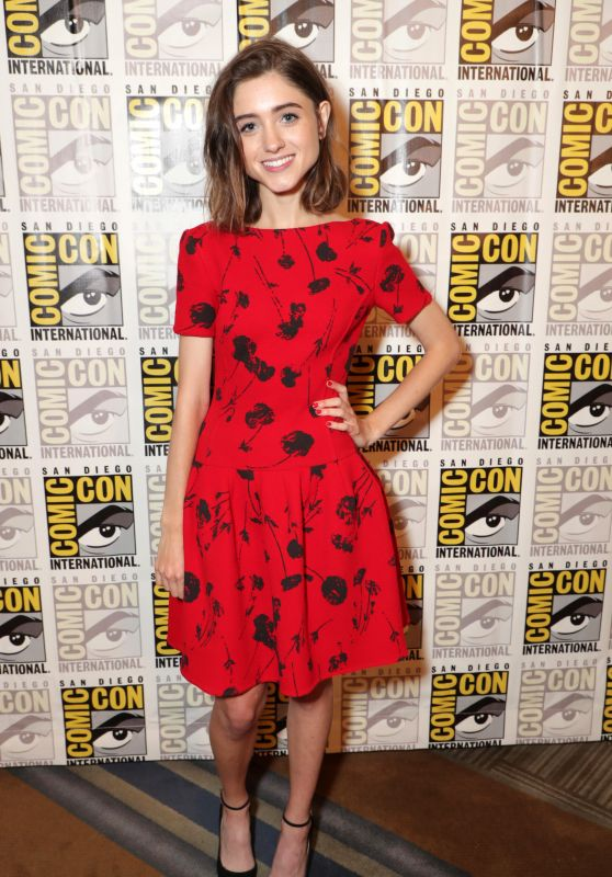 "Natalia Dyer - ""Stranger Things"" TV Show Appearance & Panel at Comic-Con in San Diego 07/22/2017"