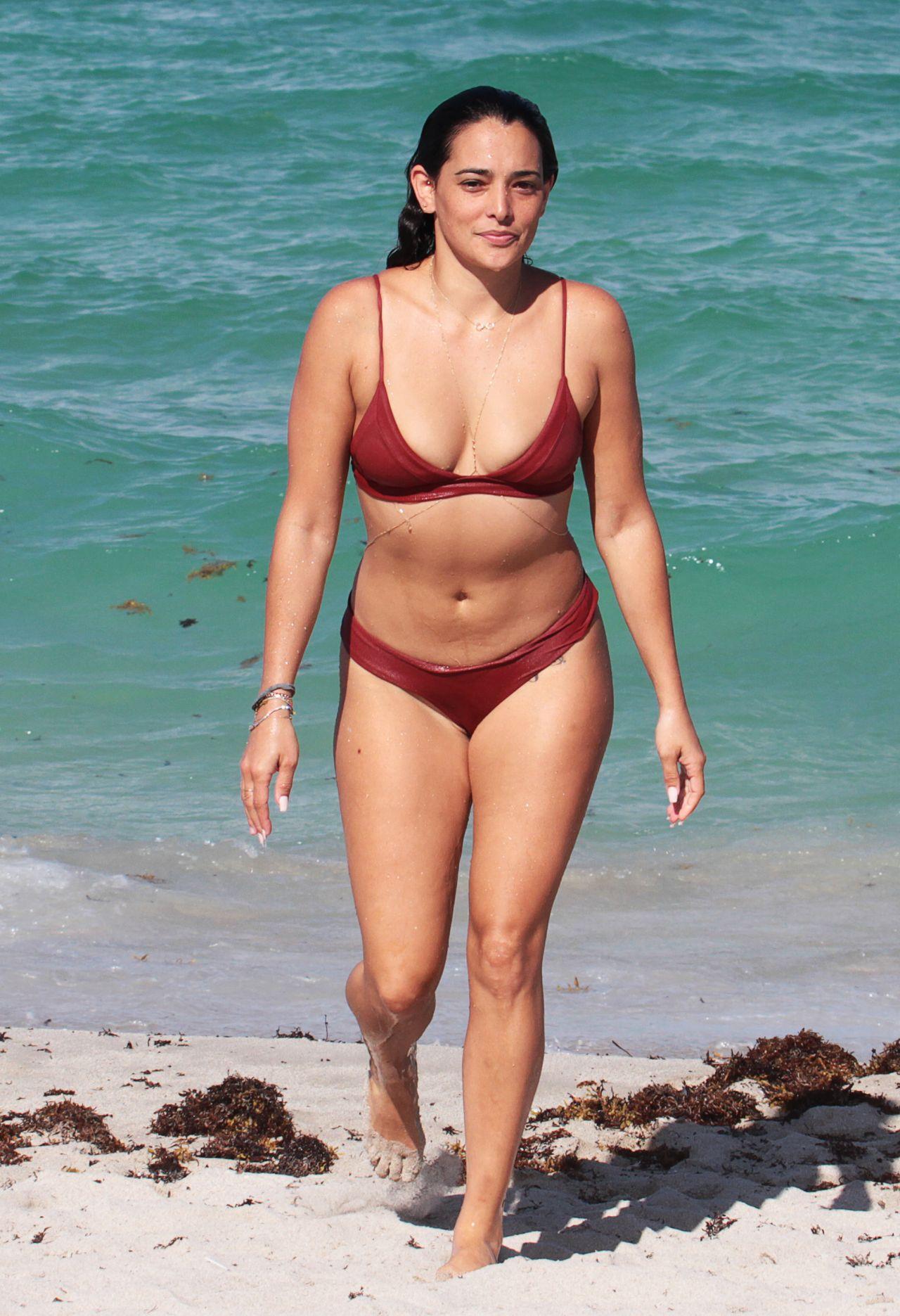 Natalie Martinez in Bikini - Miami Beach, Florida 07/08 ...