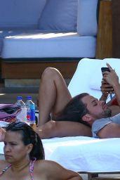 Natalie Martinez in Bikini Top - Relaxes Poolside in Miami 07/02/2017