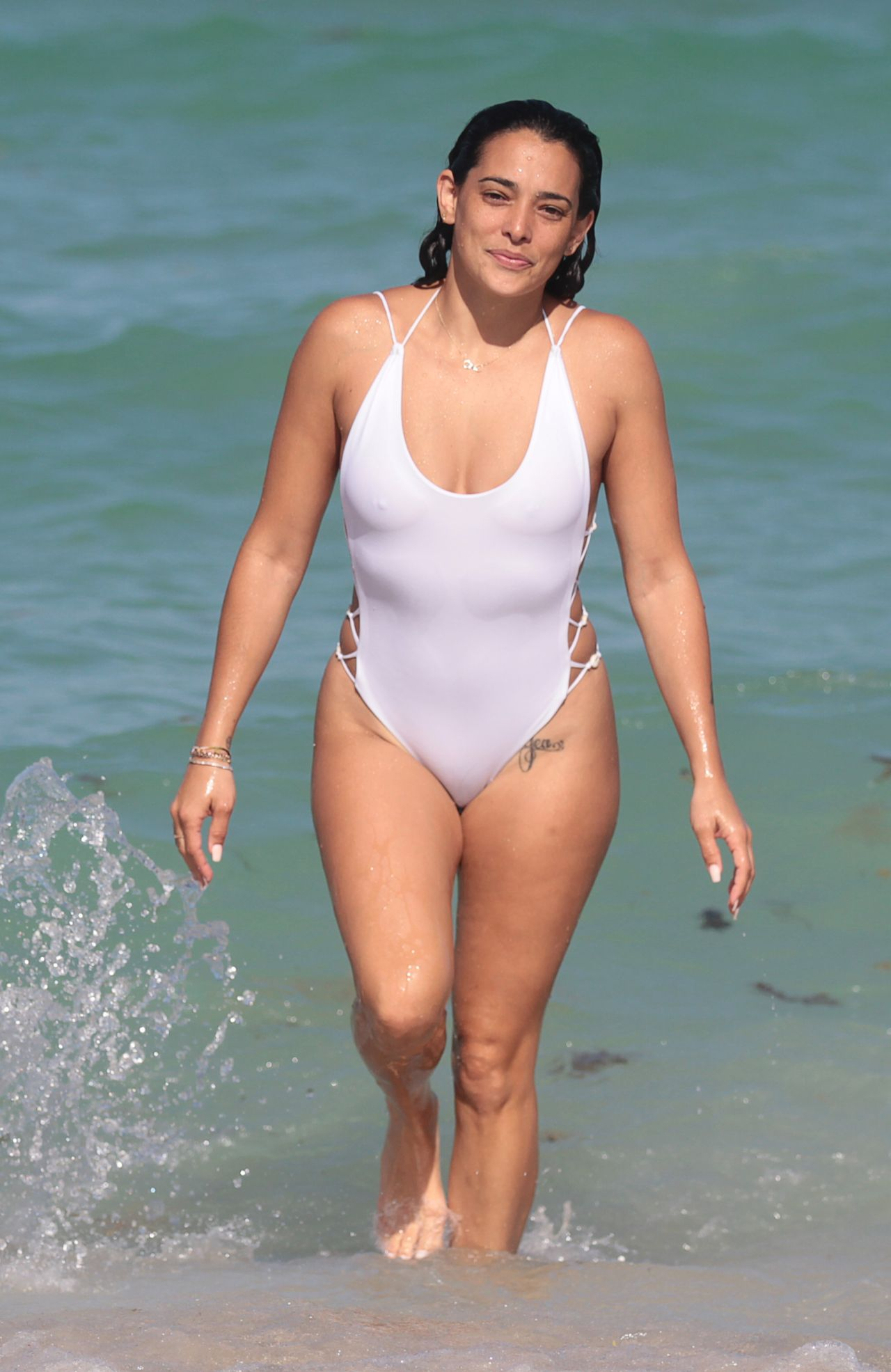Natalie martinez shows off her swimsuit body in miami beach