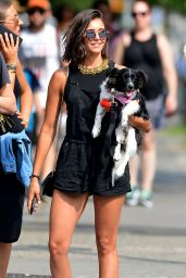 Nina Dobrev - Takes Her Dog Maverick Out For a Walk in NYC 07/23/2017