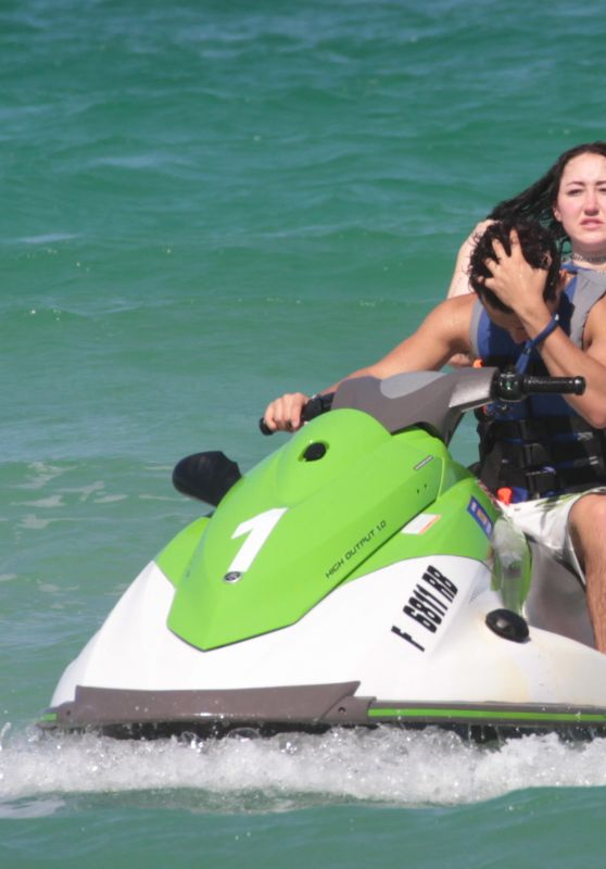 Noah Cyrus - Riding the Waves on a Jet Ski in Miami Beach 07/15/2017