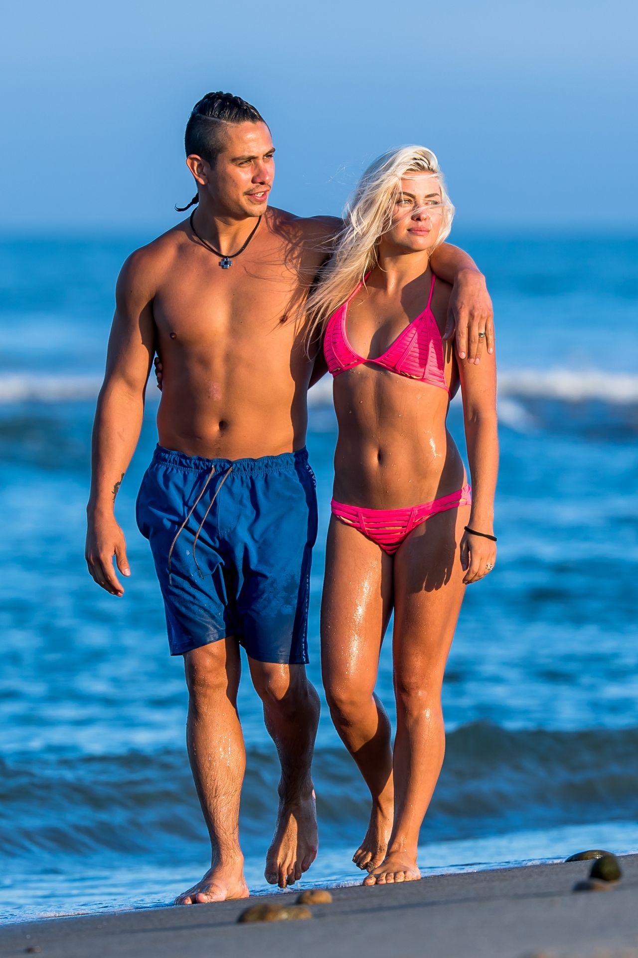 Oksana Platero In A Bikini Beach In Malibu 07 13 2017