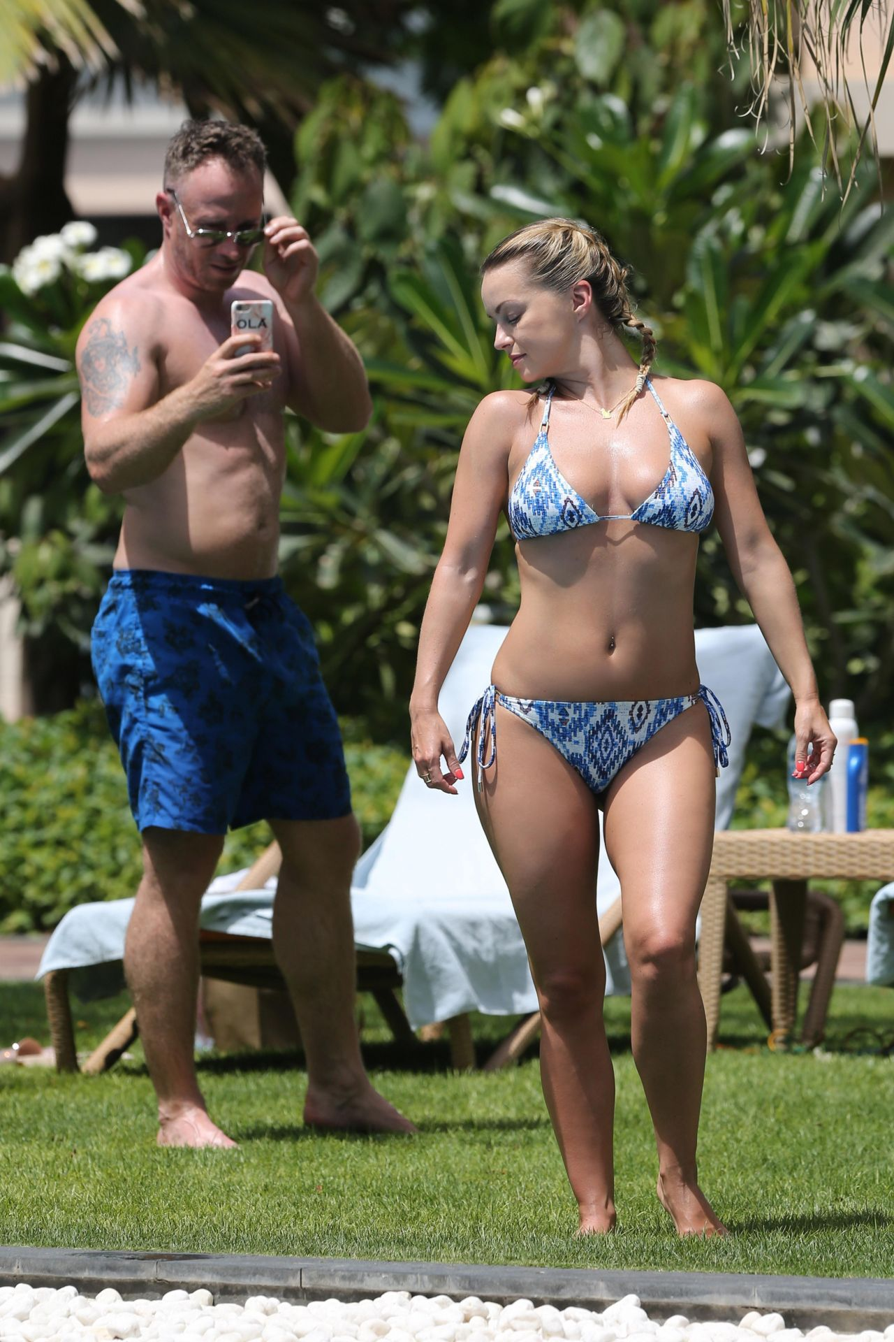 Ola jordan bikini poolside in dubai - 2019 year