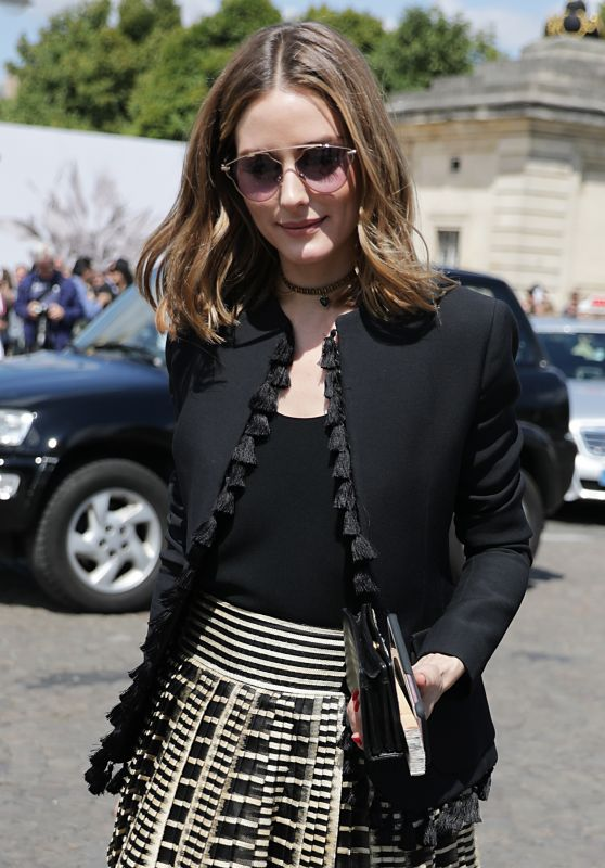 Olivia Palermo - Leaving Dior FW17/18 Show in Paris 07/06/2017
