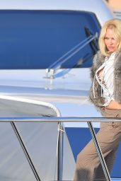 Pamela Anderson - Photoshoot on a Boat in Saint Tropez 07/16/2017