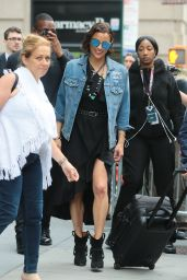 Paula Patton - Leaves AOL Build Series in NYC 07/24/2017