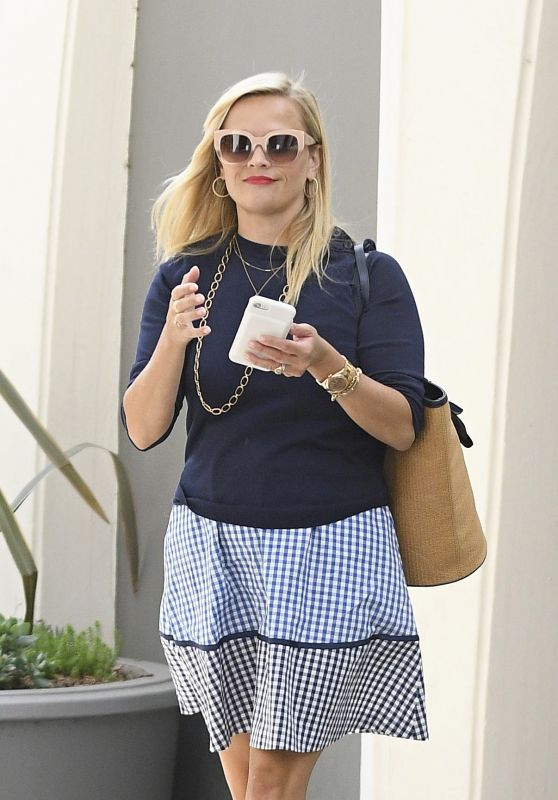 Reese Witherspoon - Heads to Her Office in Beverly Hills 07/13/2017