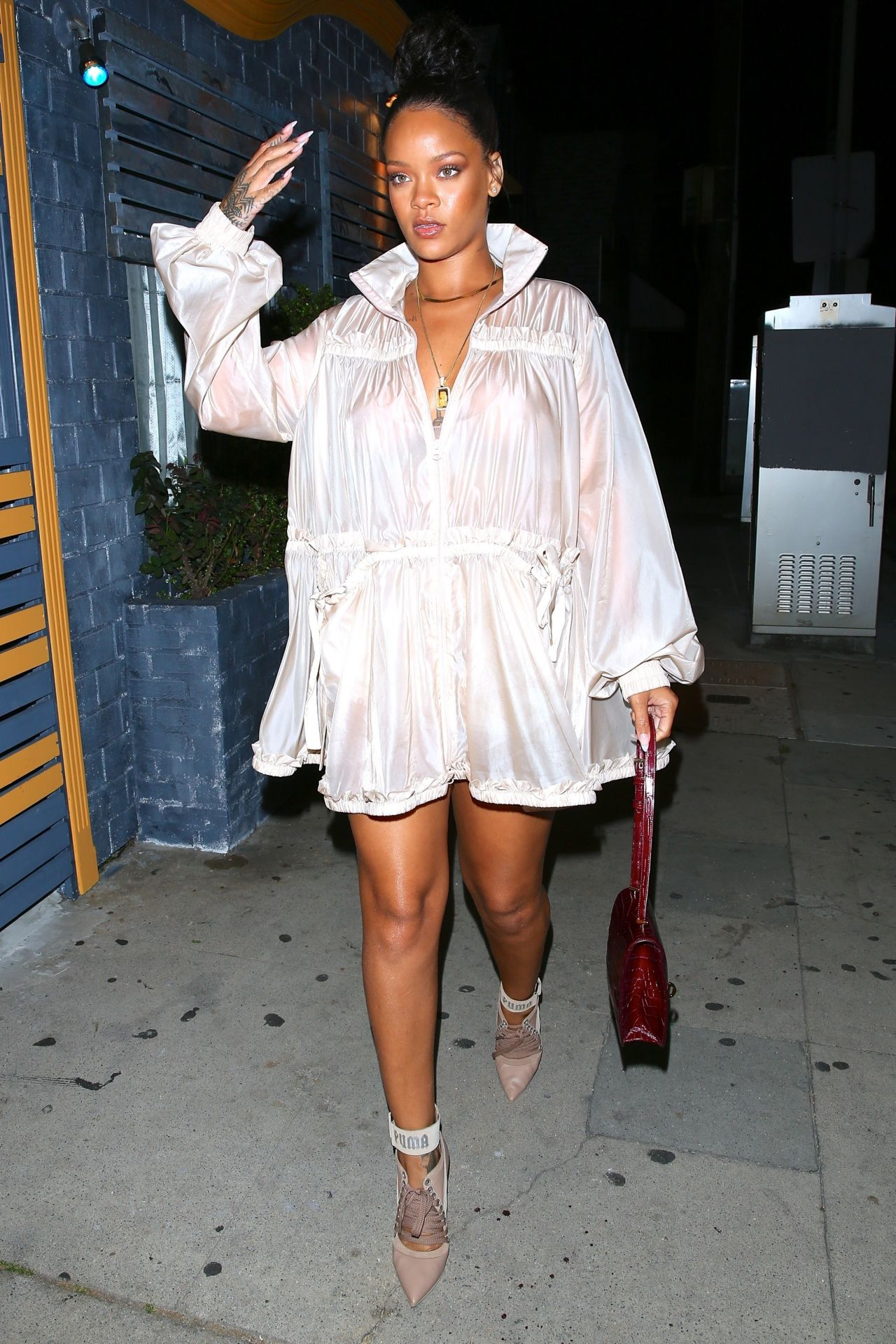 Rihanna - Goes to Giorgio Baldi in Santa Monica 07/12/2017