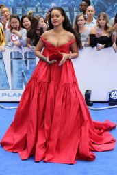 "Rihanna on Red Carpet - ""Valerian and the City of a Thousand Planets"" Premiere in London 07/24/2017"