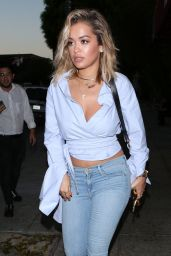 Rita Ora at Matsuhisa Restaurant in Beverly Hills 07/27/2017