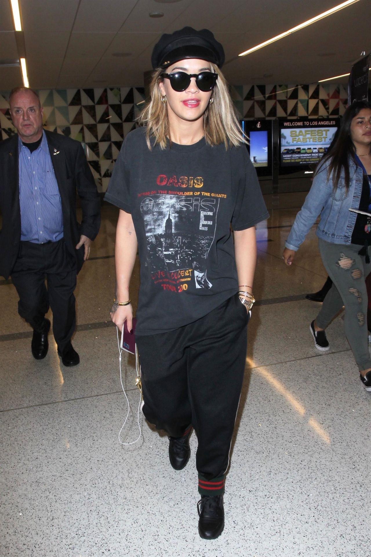 Rita Ora Casual Style ,LAX Airport 07/11/2017