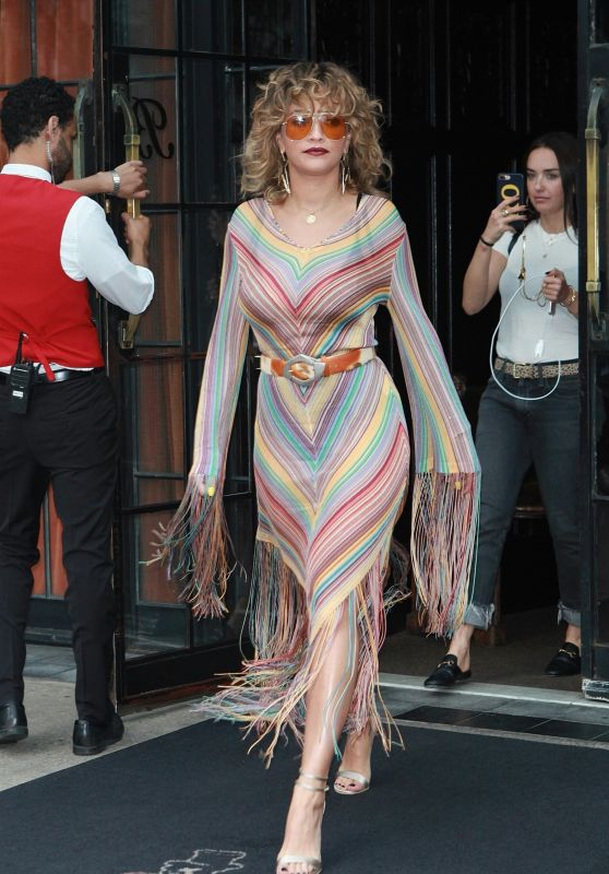 Rita Ora is Stylish - Leaving the Bowery Hotel in New York 07/17/2017