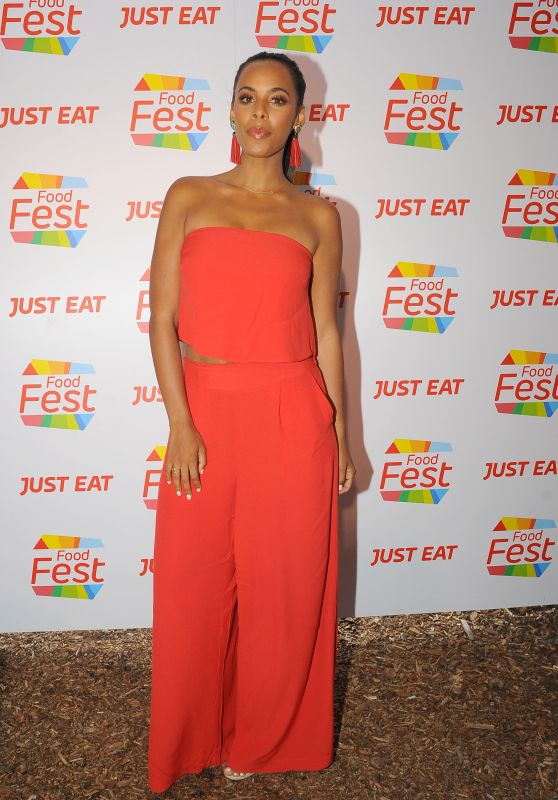 Rochelle Humes – Just Eat Food Fest at The Red Market in Shoreditch, London 07/13/2017