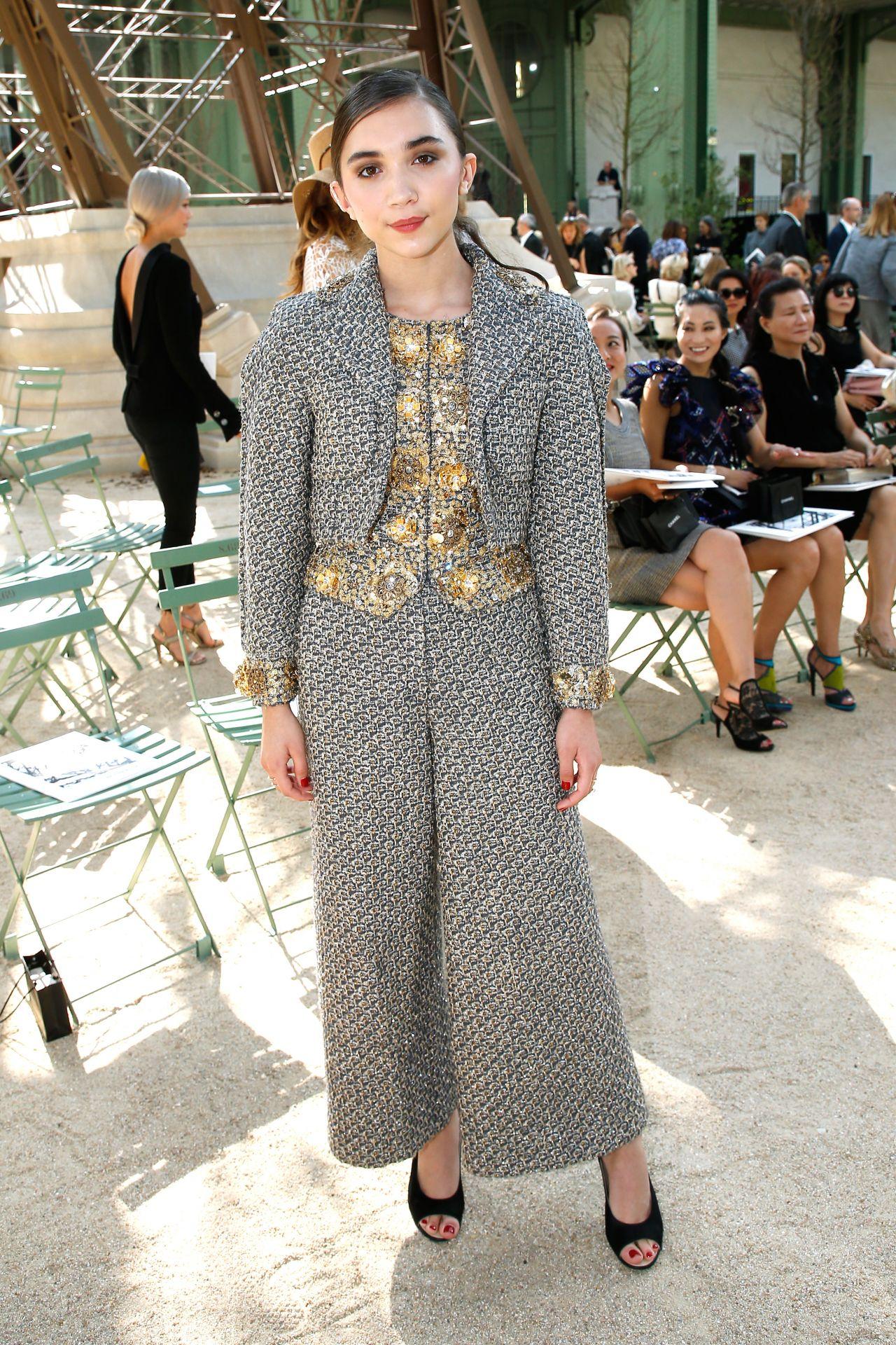 Rowan Blanchard - Chanel show at Haute Couture Paris ...