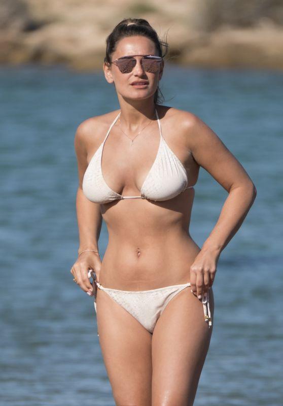 Sam Faiers in a Cream Bikini - Holiday June 2017