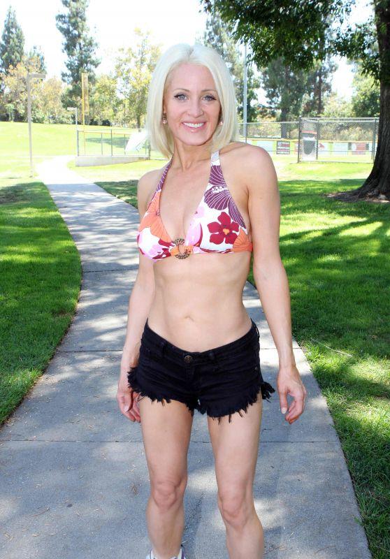 Sara Barrett - Rollerblading in a Bikini in Burbank, CA 07/28/2017
