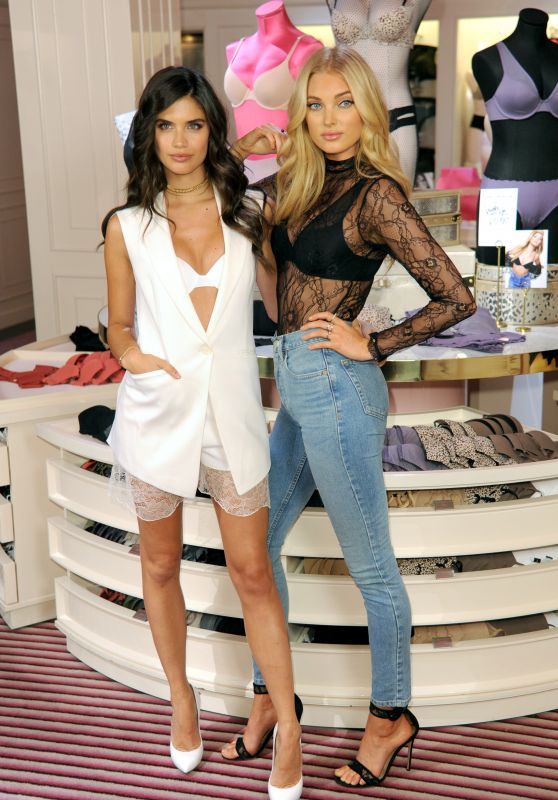 Sara Sampaio and Elsa Hosk – Celebrate the Victoria's Secret T-Shirt Bra at Victoria's Secret in NYC 07/18/2017