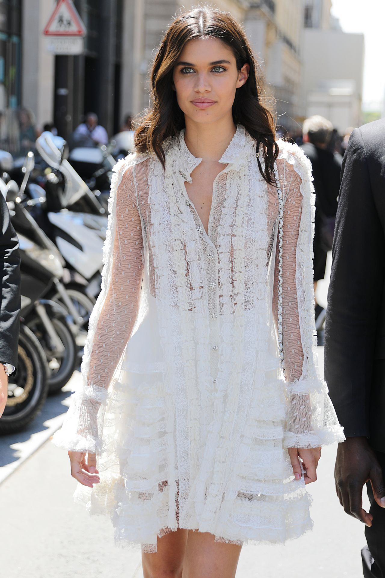 Paris Fashion Week Street Style Spring 2015: Sara Sampaio At Paris Fashion Week