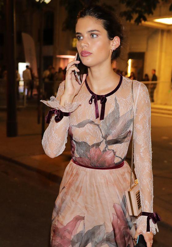 Sara Sampaio - Night out in Paris, France 07/06/2017