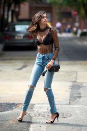 Sara Sampaio Street Fashion - West Village in NYC 06/27/2017